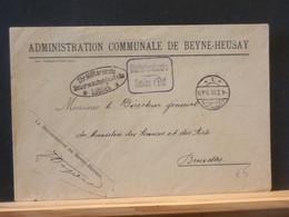 B5437   LETTRE 1916 ADM. COMM. DE BEYNE-HEUSAY  CENSURE LUTTICH - Other Covers