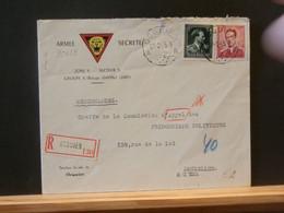 B5439 LETTRE ARMEE SECRETE RECOMM. OCQUIER  1945 - Cartas