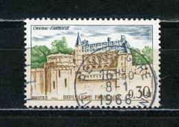 """FRANCE -  AMBOISE - N° Yvert 1390 Belle Obliteration Ronde De """"RENNES GARE"""" De 1966 - Oblitérés"""
