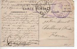 Cachet 'Navire Hôpital CIRCASSIE' Sur Carte D'Algérie De 1926 - Naval Post