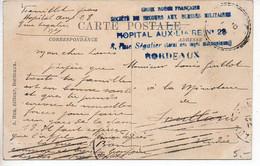 Hôpital Auxiliaire N° 28 Bordeaux (Rue Ségalier, Local Des Loges Maçonniques) - Oorlog 1914-18