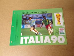 Feuillet Double 1er Jour - Mondial Di Calcio 1990 - 1990-1999