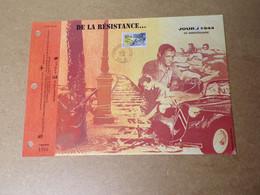 Feuillet Double 1er Jour - La SODOP - Jour J 1944/1994 - 1990-1999