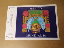Feuillet Double 1er Jour - CEF- Mexico - Mondial Foot 1986 - 1980-1989