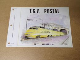 Feuillet Double 1er Jour - TGV Postal - 1994- 1000 Ex - 1990-1999