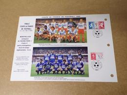 Feuillet Double 1er Jour - Coupe De France Foot 1990 - 1990-1999