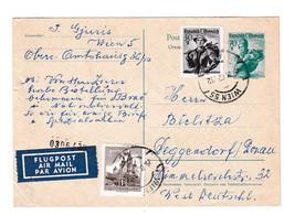 Austria, Postal Stationery Postcard Airmail Posted 1962 B210710 - Postwaardestukken