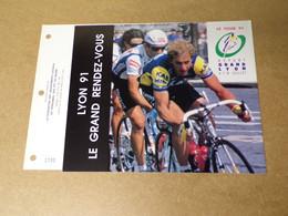 Feuillet Double 1er Jour - CEF - Le Tour De France 1991 - 1990-1999
