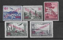 Serbie Poste Aérienne N°11/15 - Neuf * Avec Charnière - TB - Servië