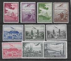 Yougoslavie Poste Aérienne N°7/16 - Neuf * Avec Charnière - TB - Luchtpost