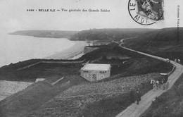 BELLE ILE - Vue Générale Des Grands Sables - Cabriolet Tiré Par Un Cheval - Animé - Belle Ile En Mer