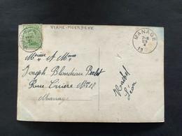 POSTKAART Uitgifte Albert I - 5c - Gestempeld RELAIS VIANE MOERBEKE - 1915-1920 Albert I
