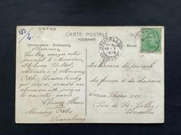 POSTKAART Uitgifte Albert I - 5c - Gestempeld RELAIS ORTHO - 1915-1920 Albert I