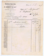 CHARENTE-MARITIME - SAINTES - R. CORBIER Fils & Cie - Manufacture De Papiers & Sacs - 1900 – 1949