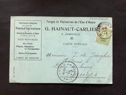 POSTKAART Uitgifte Albert I - 5c - Gestempeld RELAIS JAMIOULX - 1915-1920 Albert I