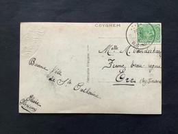 POSTKAART Uitgifte Albert I - 5c - Gestempeld RELAIS COYGHEM - 1915-1920 Albert I