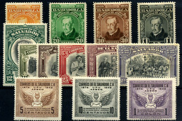El Salvador (aéreos) Nº 57/60, 94/99, 104/6. Año 1938/49 - Salvador