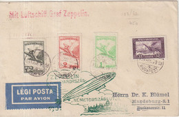 HONGRIE : PA . ZEPPLIN LZ 127 . POUR MAGDEBOURG . 1931 . - Briefe U. Dokumente