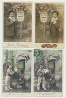 Lot De 36 Cartes Fantaisie - Série De 2 Cartes (10 Enfants -18 Femmes- 8 Hommes) Sur Le Thème De La Boîte Aux Lettres - 5 - 99 Postkaarten
