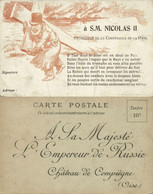 Boer War Petition To The Russian Czar At The Hague Conference Postcard (1899) - Königshäuser