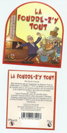 Etiquette De Bière Avec Contre étiquette France Brasserie  La Choulette - Birra