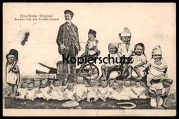 ALTE POSTKARTE WUPPERTAL ELBERFELD ZUCKERFRITZ ALS KINDERFREUND ELBERFELDER ORIGINAL FRITZ POTH NACHTTOPF KINDER Cpa AK - Wuppertal