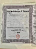 Les  Grands  Moulins  Électriques  De  VILLEURBANNE -------Obligation  De  500 Frs. 5% - Elettricità & Gas