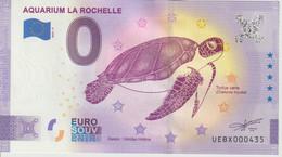 Billet Touristique 0 Euro Souvenir France 17 La Rochelle Aquarium 2021-5 N°UEBX000435 - Essais Privés / Non-officiels