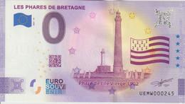 Billet Touristique 0 Euro Souvenir France 29 Les Phares De Bretagne 2021-10 N°UEMW000245 - Essais Privés / Non-officiels