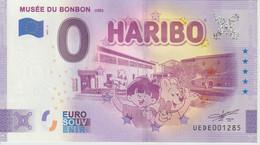 Billet Touristique 0 Euro Souvenir France 30 Uzès Musée Du Bonbon 2021-3 N°UEDE001285 - Essais Privés / Non-officiels