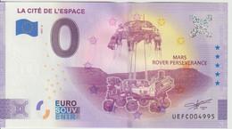 Billet Touristique 0 Euro Souvenir France 31 Cité De L'Espace 2021-4 N°UEFC004995 - Essais Privés / Non-officiels