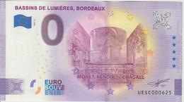 Billet Touristique 0 Euro Souvenir France 33 Bordeaux Bassins De Lumières 2021-2 N°UESC000625 - Essais Privés / Non-officiels
