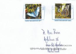 St Maarten 2021 Philipsburg Blue Morpho Morpho Peleides Butterfly Insect Cover - Farfalle