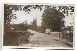 Postcard, Edenham Village, Near Bourne. Street, Road, House, Motor Bike. - Altri
