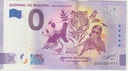 Billet Touristique 0 Euro Souvenir France 41 Zooparc De Beauval 2021-1 N°UESU001511 - Prove Private