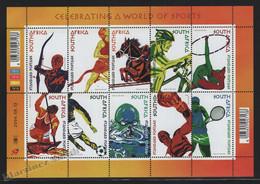 Afrique Du Sud - South Africa 2004 Yvert 1315-20, Celebrating A World Of Sports - Sheetlet - MNH - Gebraucht