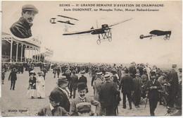 51 REIMS IIe Grande Semaine D'Aviation De Champagne  Emile Dubonnet Sur Monoplan Tellier - Reuniones