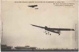 51 IIe Grande Semaine D'Aviation De Champagne 9 Juillet 1910 Deux Champions Du Meeting (labouchère Et Olleslegers) - Reuniones