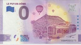 Billet Touristique 0 Euro Souvenir France 63 Le Puy De Dome 2021-6 N°UEBP000275 - Essais Privés / Non-officiels