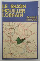 Carte Topographique - Le Bassin Houiller Lorrain - Echelle 1:50 000 - HBL - Cartes Topographiques