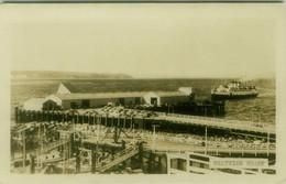 CANADA - POWELL RIVER - WESTVIEW WHARF  - RPPC POSTCARD 1940s (BG11057) - Otros