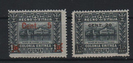 Eritrea 1916 Soggetti Africani Sopr. Serie Cpl MLH - Eritrea