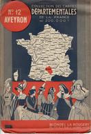CARTE DEPARTEMENTALE 200 000e BLONDEL LA ROUGERY N°12 AVEYRON - Cartes Routières