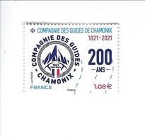 Compagnie Des Guides De Chamonix 1821-2021 Oblitéré 2021 - Used Stamps