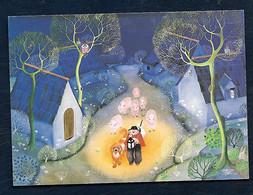 Carte Postale - Janine Faure-Terrieu - Les Moutons De Plaintel - Malerei & Gemälde
