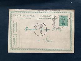 POSTKAART Uitgifte Albert I - 5c - Gestempeld RELAIS MATAGNE LA GRANDE - 1915-1920 Albert I.
