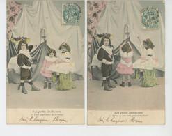 """ENFANTS - Série Complète De 6 Cartes Fantaisie Enfants """"LES PETITS INDISCRETS """" - Collezioni & Lotti"""