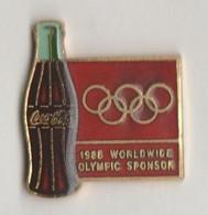 Pin's COCA COLA  Sponsor Olympique 1988. - Coca-Cola