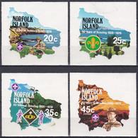 Norfolk-Insel 1978 Pfadfinder Scouts Scouting Jugend Youth Persönlichkeiten Lord Baden-Powell Karten Maps, Mi. 214-7 ** - Isla Norfolk