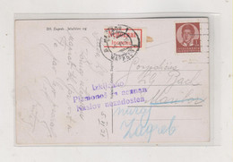 YUGOSLAVIA, 1938 ZAGREB Nice Postard Returned - Covers & Documents
